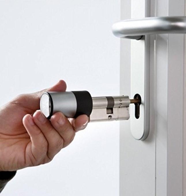 cylindre empreinte digitale ouverture porte